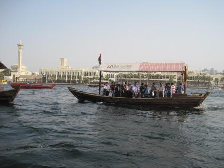 Dit is dus de andere kant van Dubai, overtocht kost werkelijk niets.
